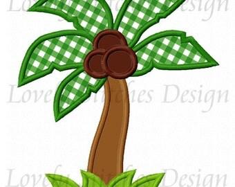 Coconut tree Applique Machine Embroidery Design NO:0333