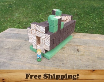 Field Fairy Library Log Play Set, Peg Doll Fairy Set with Painted Peg People!