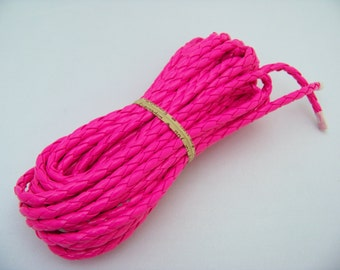 Neon Pink 5mm Leatherette cord/3480