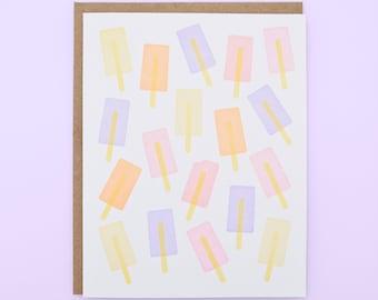 Ice Pops Letterpress Card