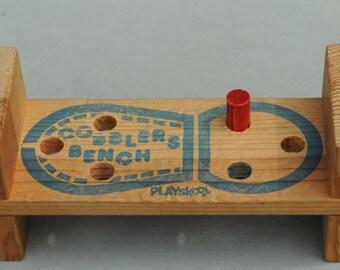 Vintage Playskool Cobbler's Bench With Wooden Peg