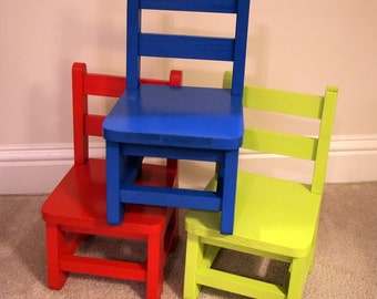 Handmade Wood  toddler chair