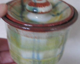 vintage ceramic storage jar pot with lovely glaze