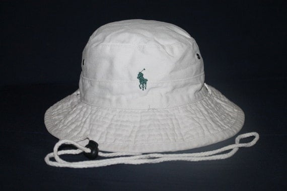 Vintage polo ralph lauren classic pony bucket hat sportsman for Polo fishing hat