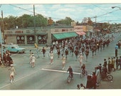 1966 Memorial Day Parade Senior High School Band Hazel Park Michigan MI Old Postcard