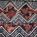 """Geometric Floral ITY 2-Way Stretch Black White Reds Knit Polyester Lycra Spandex Apparel Craft Fabric 58""""-60"""" Wide By The Yard"""