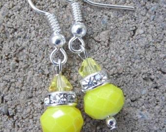 Yellow sunshine earrings