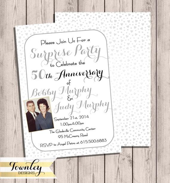 Wedding anniversary invitation custom wedding anniversary like this item solutioingenieria Gallery