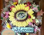 Welcome Sunflower Wreath