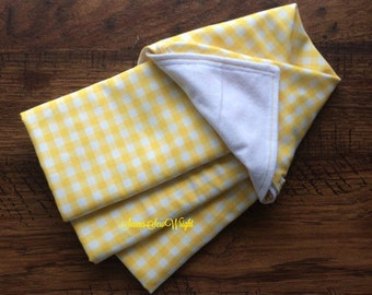 Gingham Cloth Napkins in classic yellow ECO