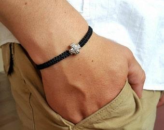 MENS BRACELET Mens Cross Bracelets Bracelet for Men Mens Jewelry Mens Bracelets Bracelet Men Men Beaded Bracelet Shamballa Bracelet for men