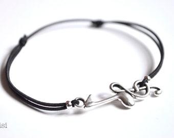 Elastic cord bracelet music