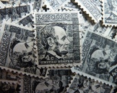 150 Stamps  - Lot of 150 Black Abraham Lincoln Stamps for Scrapbooking, Collage, Card Making, Jewelry, etc.