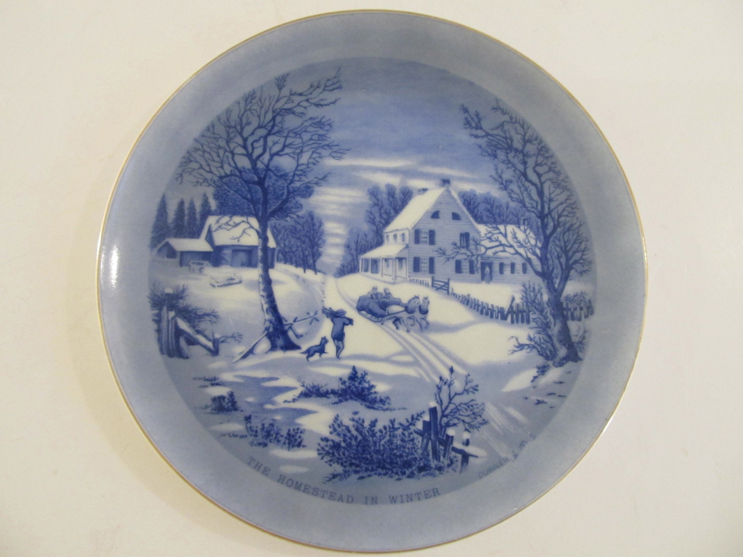 The homestead in winter plates decorative plates japan for Decor plates