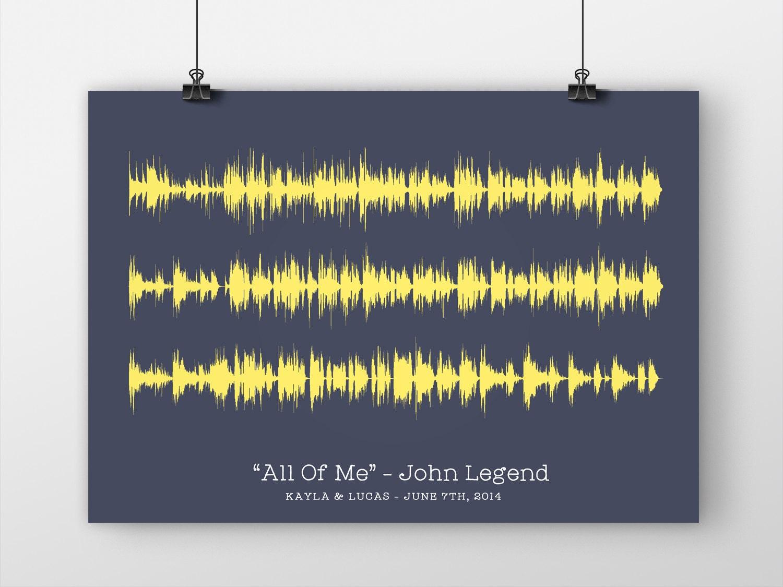 Soundwave print first dance song your favorite lyrics