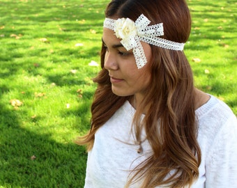 Rosy Lace Headband