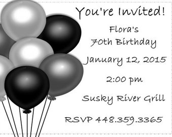 20 Personalized Birthday Party Invitations Envelopes Included
