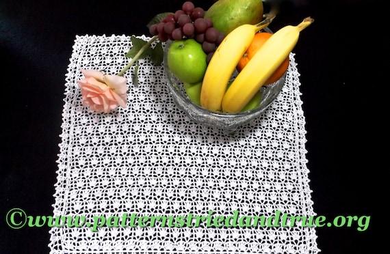 Crochet Pattern Square Doily, Table Linen, Table Runner, Crochet Drawer Liner, Versatile Crochet  Stitch,