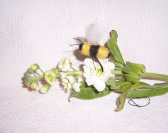 Needle Hand felted wool Bumble Bee