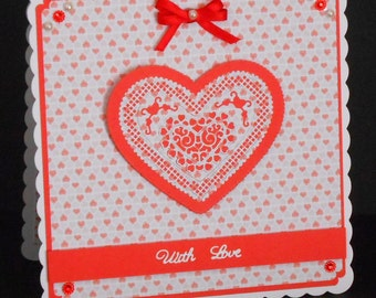 Love Hearts 8 x 8 Card