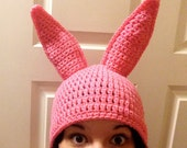 PATTERN ONLY - Pink Bunny Ear Hat
