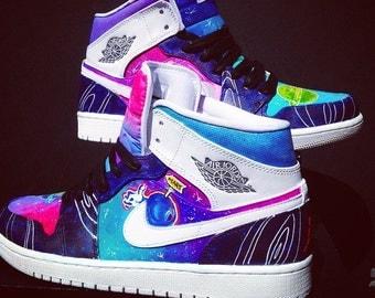 Space Jam Nike Air Jordan 1's Custom Made