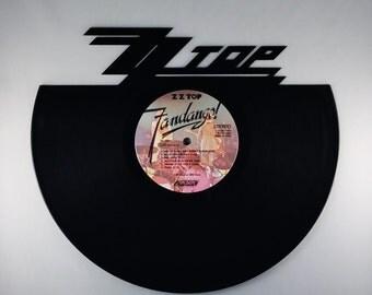 Recycled Vinyl Record ZZ TOP Wall Art