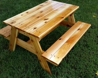 Hand Crafted Kids Cedar Picnic Table