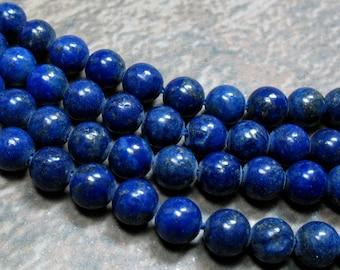 Lapis Beads 6 mm, 8 inch strand - Item B0254
