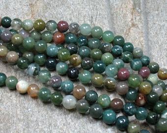 "Fancy Jasper Beads, 6 mm, 15"" strand - Item B0361"