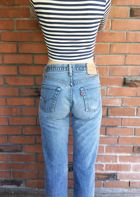 levis 501 redline selvedge jeans 28 waist vintage. Black Bedroom Furniture Sets. Home Design Ideas