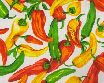 Chili Pepper Fabric Etsy