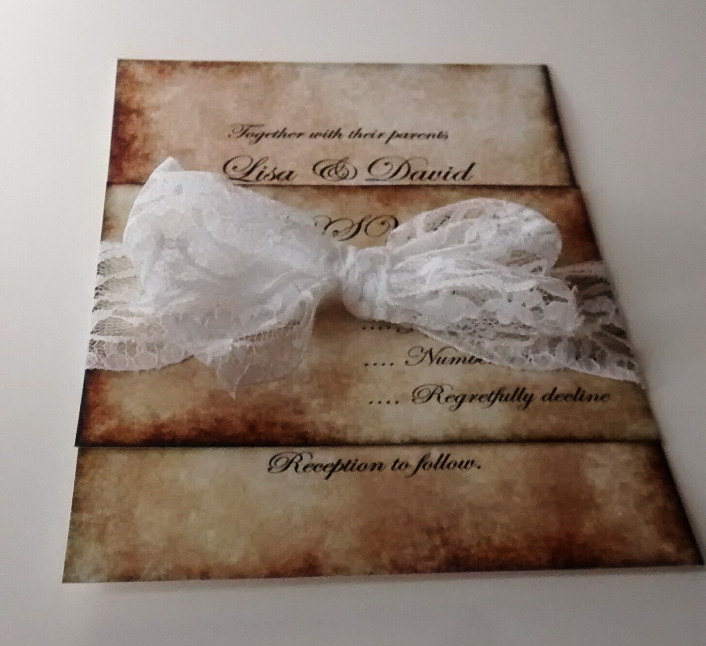 Where To Buy Wedding Invitation Paper: Vintage Wedding Invitation Lisa Parchment