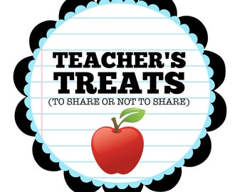 Teacher's Treats Sign for Teacher Appreciation Week