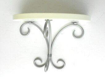 "11"" x 9"" x 6"" Sconce,Silver Iron Sconce,Decorative Metal Wall Sconce,Iron Wall Shelf Sconce,Silver Wall Sconce,11x9 Silver Metal Shelf"