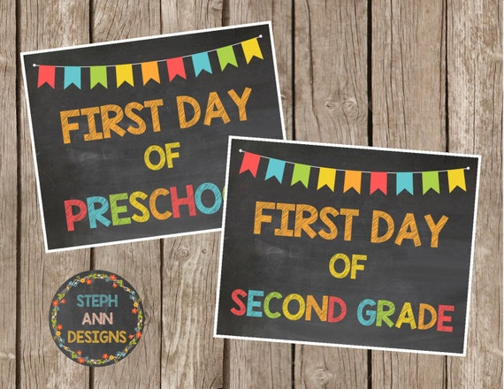 It is a photo of Intrepid Free Printable First Day of School Signs 2020-2020