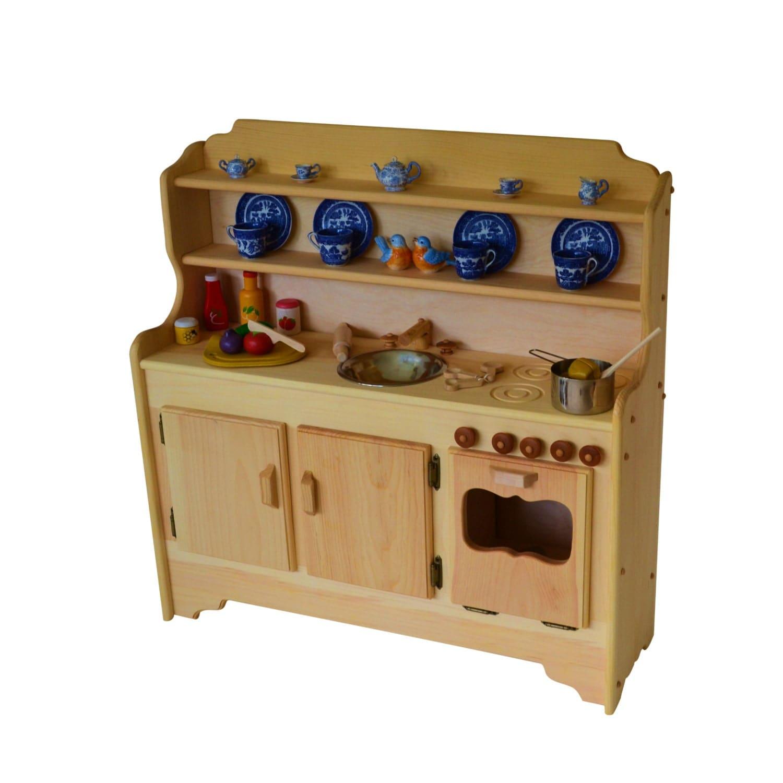 Wooden Waldorf Play Kitchen-Wooden Toy Kitchen-Play Kitchen
