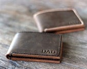 Wallet, Personalized Men's Leather Bifold Wallet, Groomsmen Gift, Mens Wallet, Gift Ideas for Him - [Listing# 002]