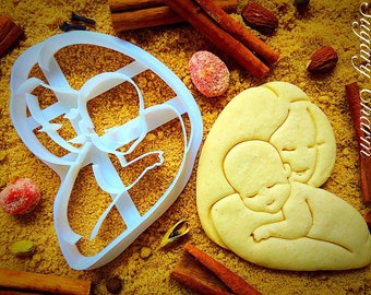 Mother and Baby cookie cutter