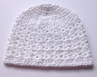 Kundalini Head Covering - Crocheted Yoga Beanie -ready to ship!