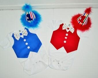 Twins clown cake smash set, Twins cake smash, twins birthday outfit,  twins birthay outfit, twins clown outfit, twins smash cake set