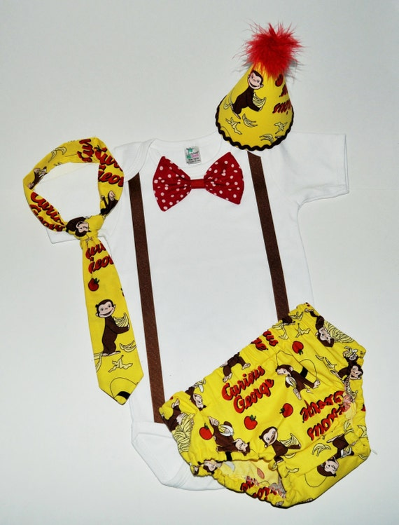 Curious George Smash Cake Outfit