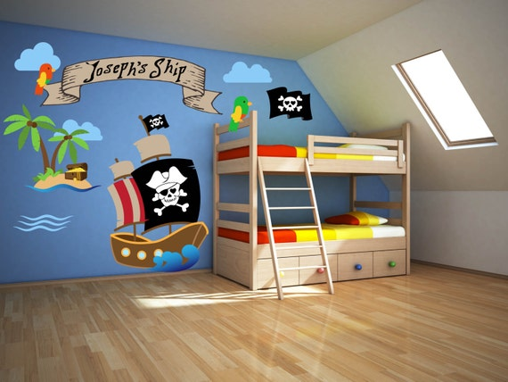 Pirate Room Decor Pirate Wall Decals Pirate Theme Decor