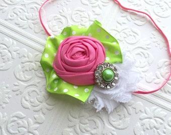 The Watermelon Crush Headband or Hair Clip