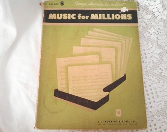 1950 Songs America Loves Best Music for Millions by JJ Robbims and Sons Inc