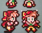 Final Fantasy VI/Final Fantasy III (US) perler bead sprite Relm choose from 1 of 4 stances or get all 4, plain or magnet featured image