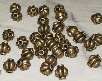 Bronze Lanterns, Antiqued, Spacer Beads - 6x5MM