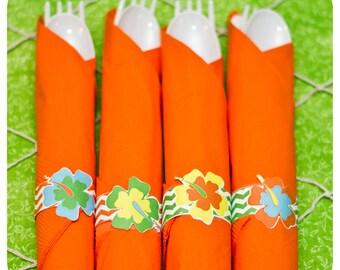 Luau Napkin Rings ; Luau Birthday Party; Napkin Rings; Luau Decor;