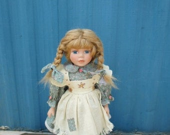 Sweet Country Girl-Porcelain Doll
