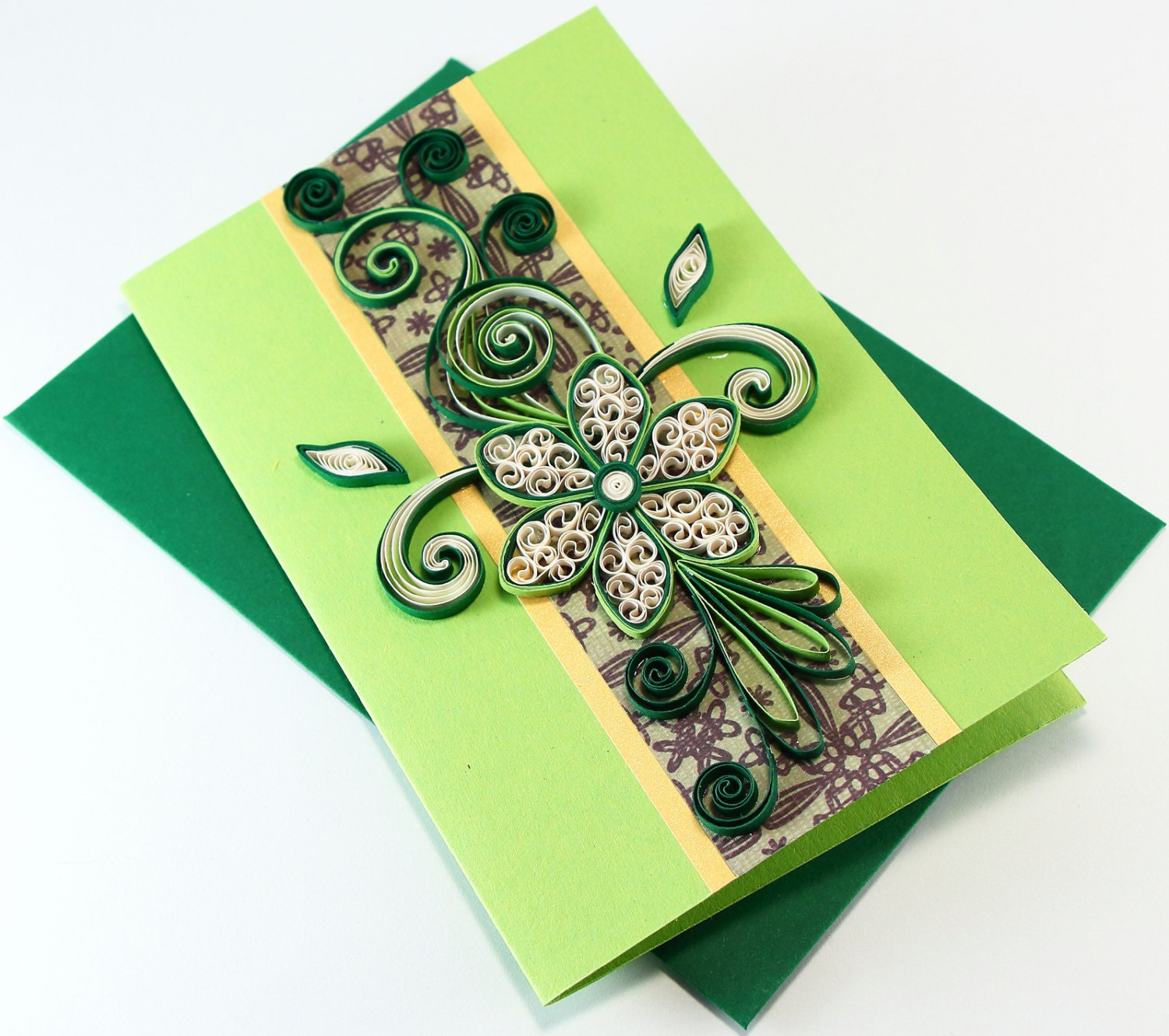 Paper Quilling Birthday Card Handmade Greeting Card for